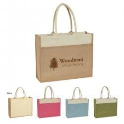Group of Jute tote bags from Bag ladies