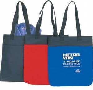 Polyester Shopping Tote With Gussett Bag Ladies
