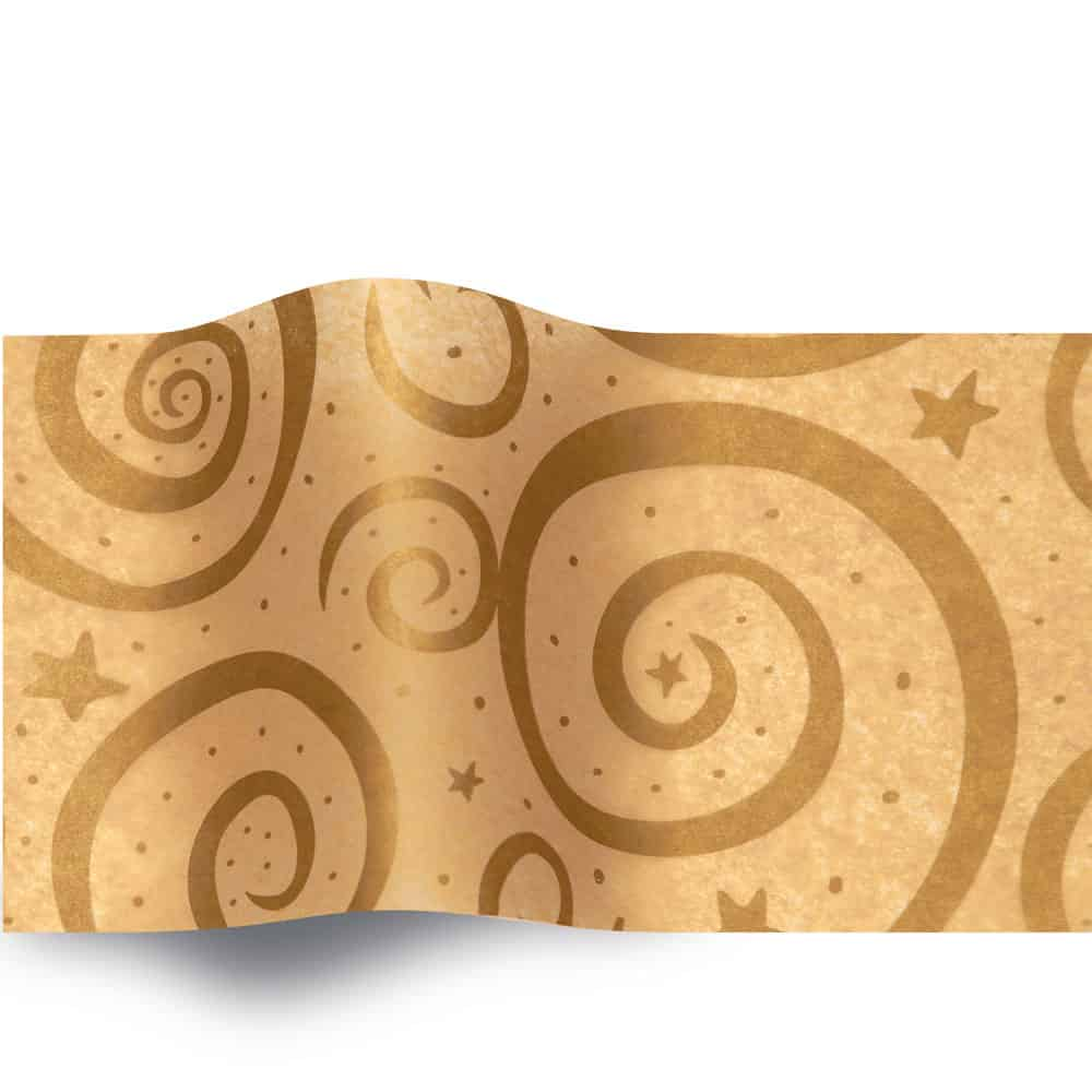 Gold Swirls on Kraft 168 (A)