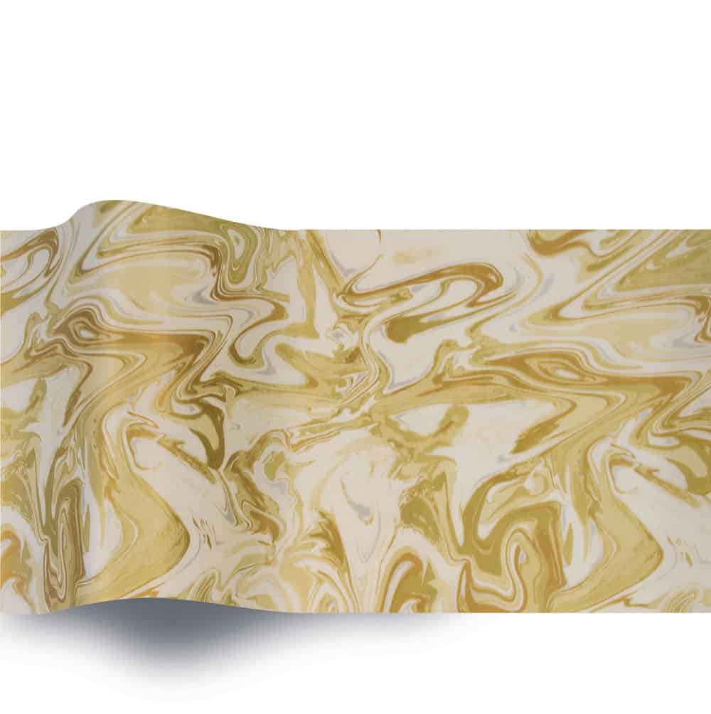 Gold Swirls on Ivory 365 (B)