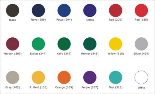 Standard Color Chart