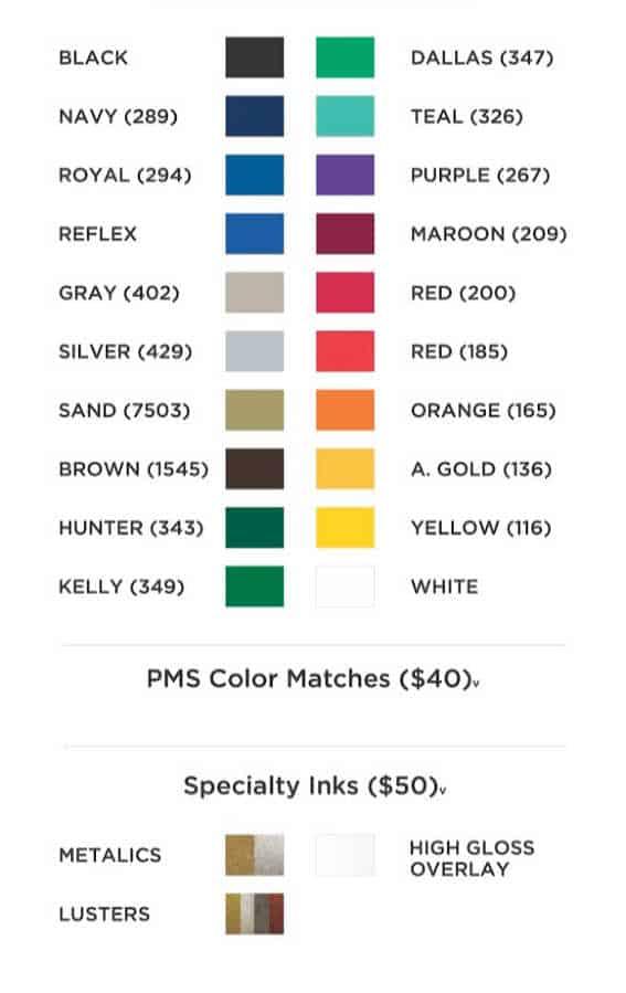 standard colors