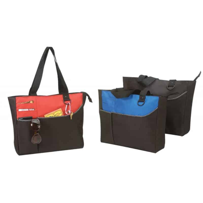 Zipper Totes With Pockets Bag Ladies