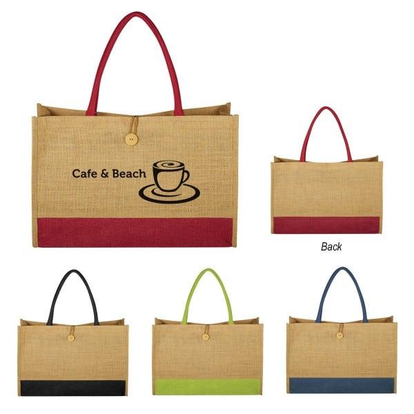 Group of Jute box tote bags