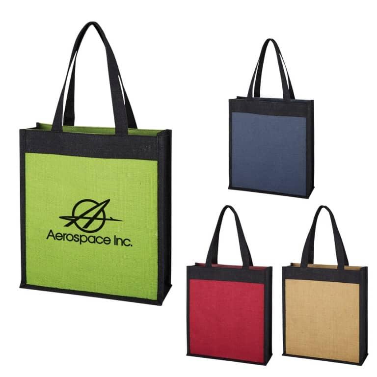 Group Laminated Jute Tote Bag
