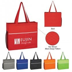 Group of Wave design tote bags from Bag Ladies