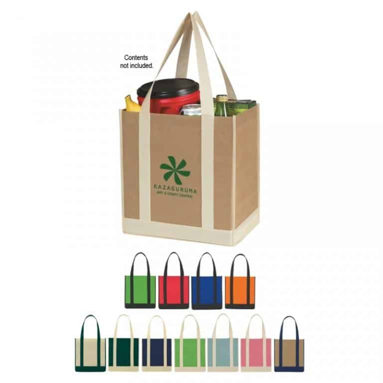 Two tone shopper totes from Bag Ladies