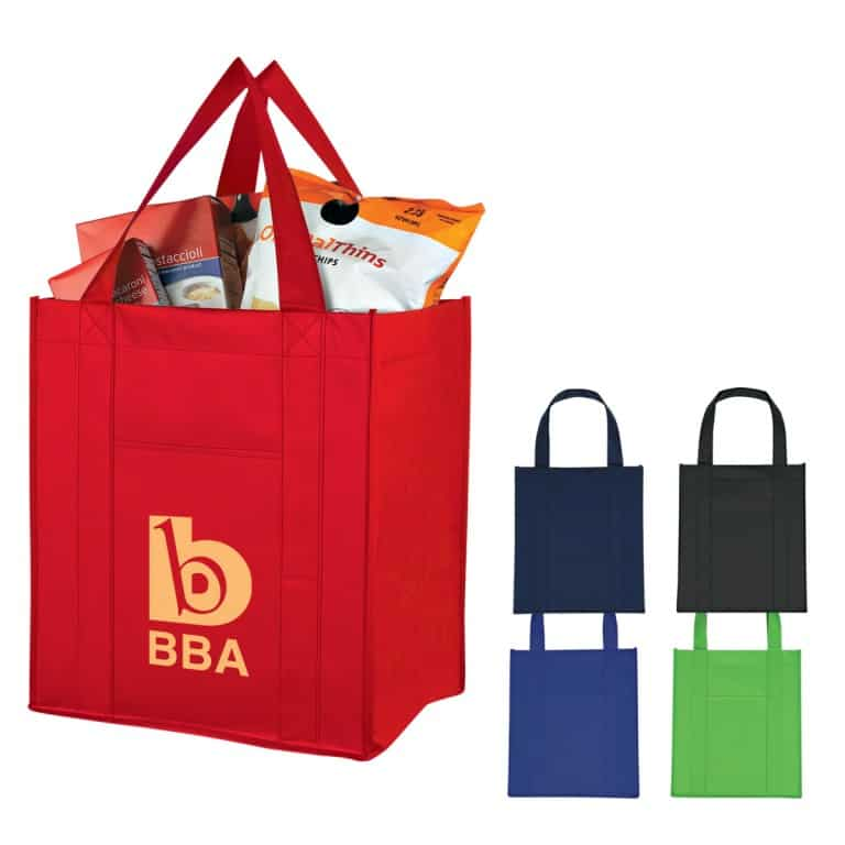 Group of Matte Laminated Shopper Totes
