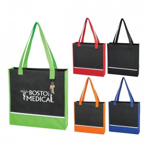 Group of accent tote bags
