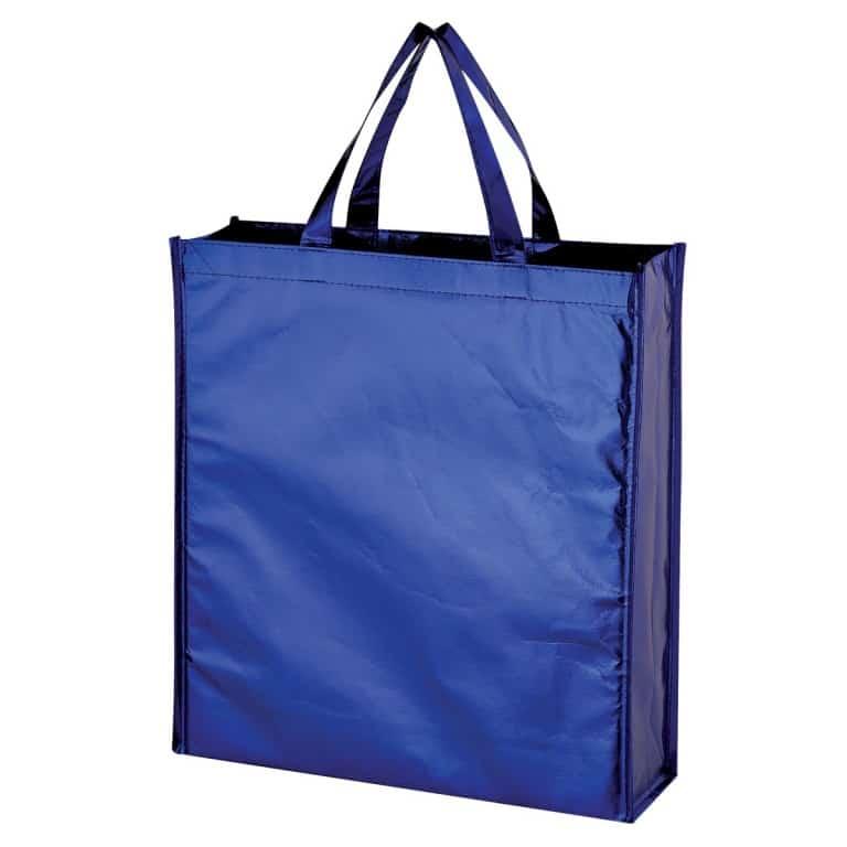 Blue Metallic Non Woven Shopper Tote