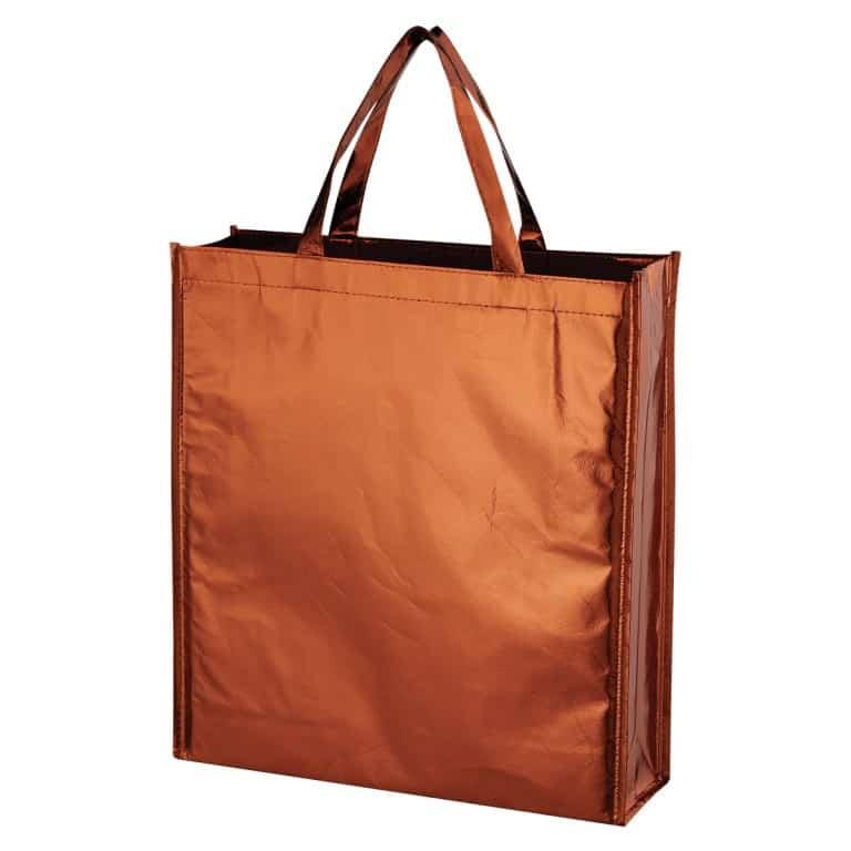 Copper Metallic Non Woven Shopper Tote