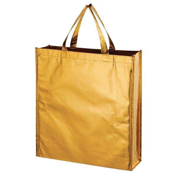 Gold Metallic Non Woven Shopper Tote