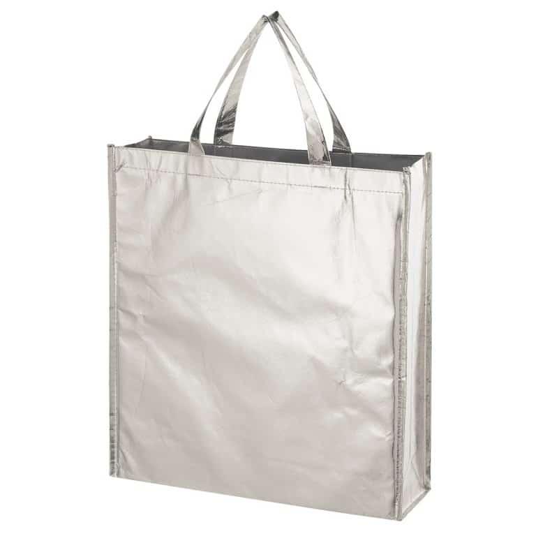 Silver Metallic Non Woven Shopper Tote