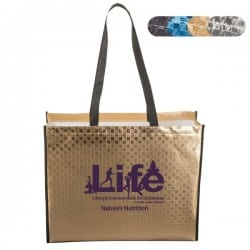 Laminated Metallic Tote Bag