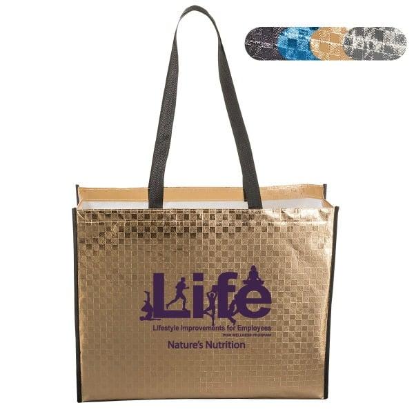 Laminated Metallic Tote Bag